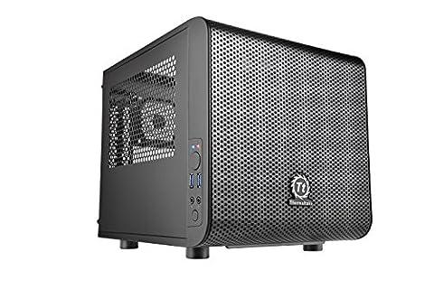 Thermaltake Core V1 Black Edition SPCC Mini ITX Cube Computer Chassis CA-1B8-00S1WN-00 (Thermaltake Core V21)
