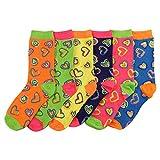 Women's Fun Colorful Crew Sock 6 Packs