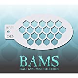Bad Ass Body Painting Stencils for Arms, Chest & Belly - Fish Scales Mini Stencil BAM1013
