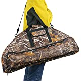 95cm/37.4inch Archery Compound Bow Bag Case Soft Fabric Hunting Bow Carry Quiver (Camouflage)