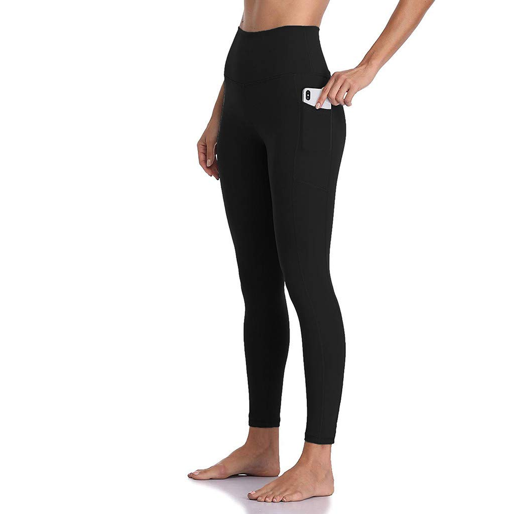 Yoga Leggings Damen Hohe Taille Sporthose Muster Trainingshose Fitnesshose Tummy Control f/ür Laufen Yoga Workout