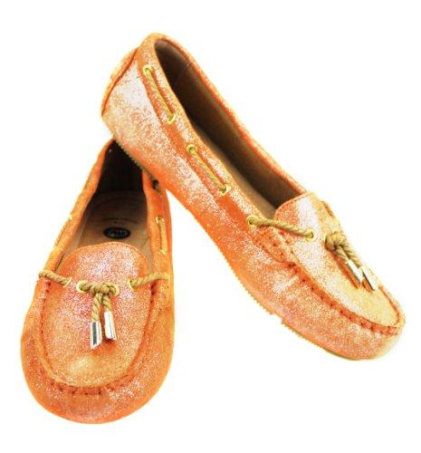 Lamo Women's Elite Moccasin Shoe,Orange,8.5 M US