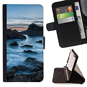 Jordan Colourful Shop - Misty Rocks For Samsung Galaxy S6 - Leather Case Absorci???¡¯???€????€???????????&AEli