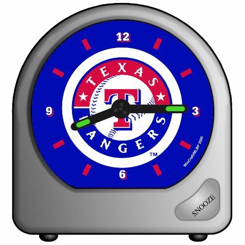MLB Texas Rangers Alarm Clock (Mlb Baseball Alarm Clock)
