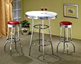 3pcs-Retro-Style-Red-Chrome-Bar-Table-2-Stools-Set