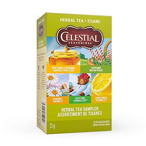- Celestial Seasonings Herbal Tea Sampler Caffeine Free Herbal Tea - 18 CT
