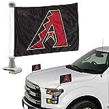 ProMark Arizona Diamondbacks 2-Pack Ambassador Style Auto Flag Car Banner Set Baseball