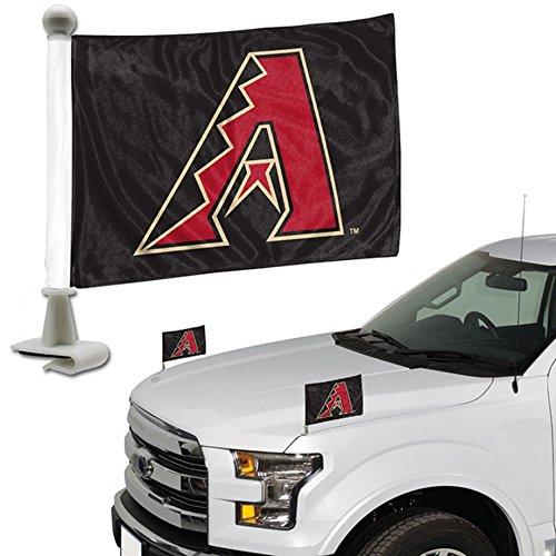 ProMark Arizona Diamondbacks 2-Pack Ambassador Style Auto Flag Car Banner Set Baseball Arizona Diamondbacks Banner Flag