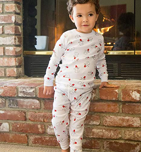 Skylar Luna Unisex Pajamas Set- 100% Organic Turkish Cotton- Unisex Long Sleeve Girls Boys Prints - GOTS Certified