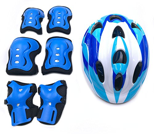 7Pcs-Kids-Youth-Adjustable-Helmet-Cycling-Roller-Skateboard-Elbow-Knee-Pads-Wrist-Safety-Protective-Guard-Gear-Set-for-Children-aged-5-12-years-old