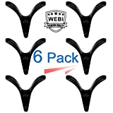 WEBI Wall Hook,Vintage, Heavy-duty, Decorative, Double V-hook, Coat Hook, Towel Holder, Key Hanger, Metal Utility Hook for Bathroom Shower, Closet, Entryway, Kitchen, V-XSG-BLK-6 (Black, 6 Packs)