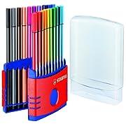STABILO 水性マーカー Pen68 カラーパレード 6820-03 20色セット