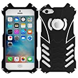 Iphone 5 5s SE 5c Case, Oxidation Aerospace Aluminum Metal Tech Armor Shockproof Drop Resistance Protective Bumper Back Cover