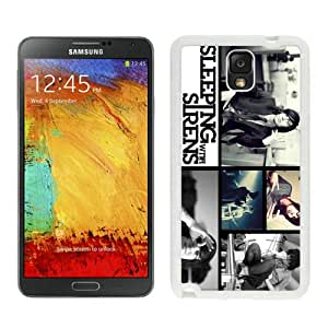 Unique And Popular Samsung Galaxy Note 3 Case ,Sleeping With Sirens White Samsung Galaxy Note 3 Screen Cover Beautiful Designed