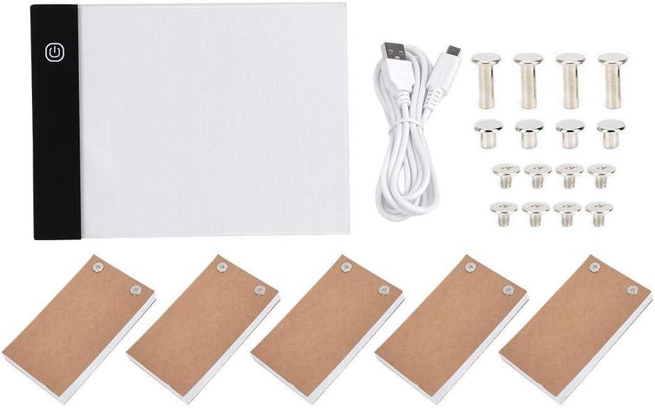eecoo Kit de Almohadilla de luz de Seguimiento de Dibujo de Diamante A6 LED - Flip Books Kit de Flipbook A6 Caja de luz LED Tablero de Dibujo a Mano Tablero LED Herramienta de Pintura portátil(USB)