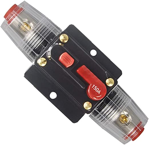 Details about  /Flush-Mount Circuit Breaker 150AMP Car Truck Stereo Audio Inline Replace Fuse