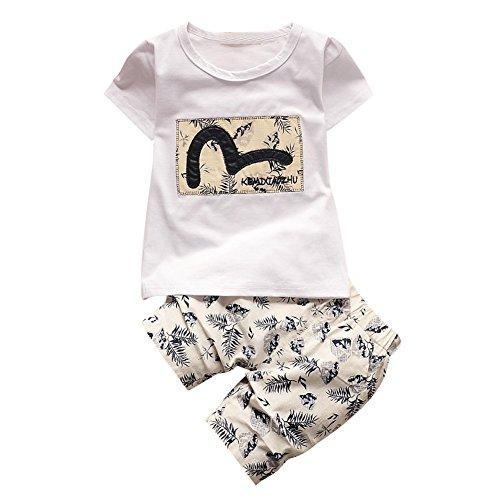 Baby Boys' Short Sleeve Stripe T-shirts and Shorts Set White 18-24 months