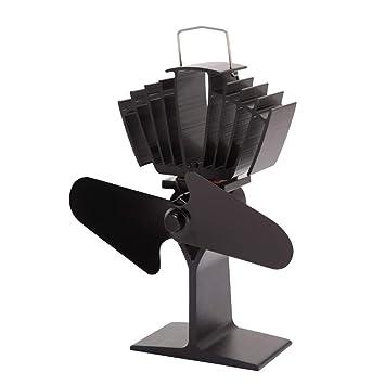 ZPL Ventilador de Estufa de 2 Cuchillas accionado por Calor | Operación silenciosa | Chimenea de