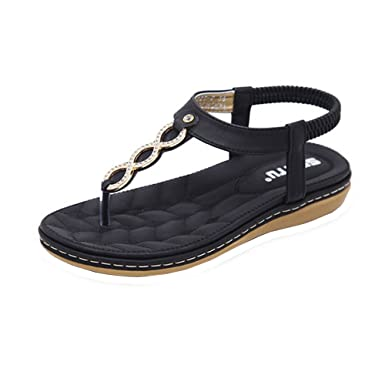 078387945e60c Amazon.com: MILIMIEYIK Sandals, Womens Flip Flops Beach Lightweight ...