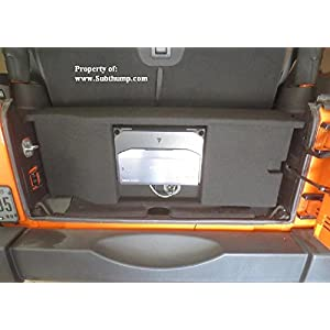 2007-2018 Jeep Wrangler 2-Door Dual 12 Front Fire Subwoofer Box with Amp Space