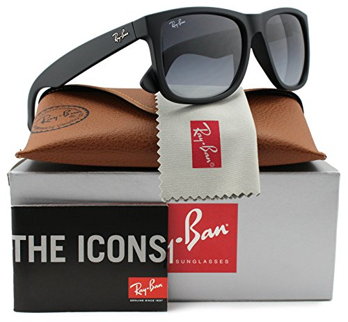 Ray-Ban RB4165 Justin Sunglasses Matte Black w/Grey Gradient (601/8G) 4165 6018G 55mm - 55 Rb4165
