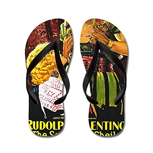 Cafepress Rudolph Valentino - Flip Flops, Roliga Rem Sandaler, Strand Sandaler Svart