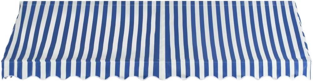 vidaXL Tenda da Sole per Bistr/ò 200x120 cm Blu e Bianca Tendalino Parasole