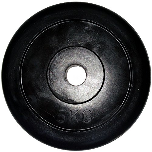 LiveUP Sports - Disco Peso 1pz 5Kg Foro 25mm Gomma Naturale Ghisa Bodybuilding Fit Bilanciere