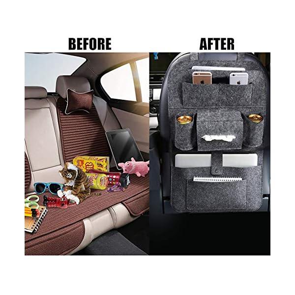 Autositz Organizer Leder, Autositzorganizer, Autositz Organizer, Rückenlehnenschutz Auto, Auto rückenlehnenschutz kinde…