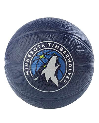 Spalding NBA Minnesota Timberwolves NBA Primary Team Outdoor Rubber Basketballteam Logo, Blue, N by Spalding