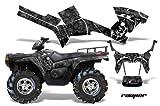 AMRRACING Polaris Sportsman 800/500 2005-2009 Full Custom ATV Graphics Decal Kit - Reaper Black