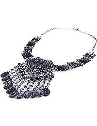 Tibetan Women Chunky Choker Tassel Gothic Necklace Collar Pendant Jewelry?