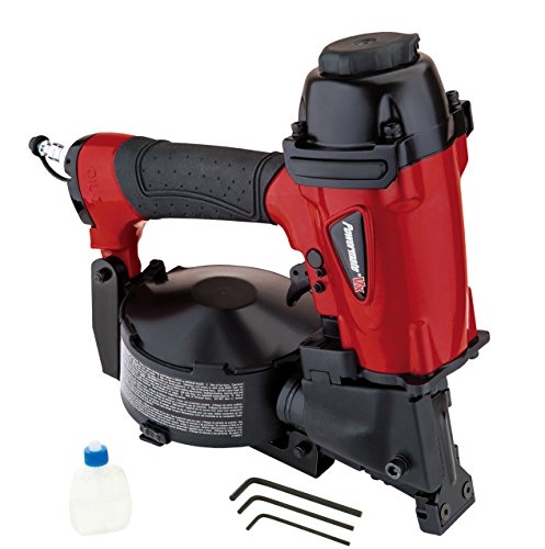 Powermate VX CRN175P Coil Roofing Nailer, Red