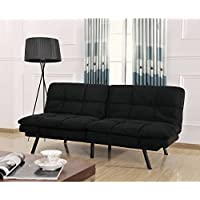 Mainstays Memory Foam Convertble Futon (Black)