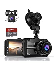 $47 » Dash Cam, ZIAMRE Front and Rear Car Camera with FHD 1080P 3 Inch LCD Screen, 32G SD Card Included, Equipped with 170°Wide Angle, Night Vision, G-Sensor, Parking Monitor, Loop Recording
