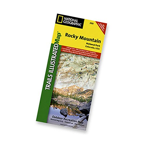 Nat Geo Rocky Mountain Natl Park Map One Color One Size