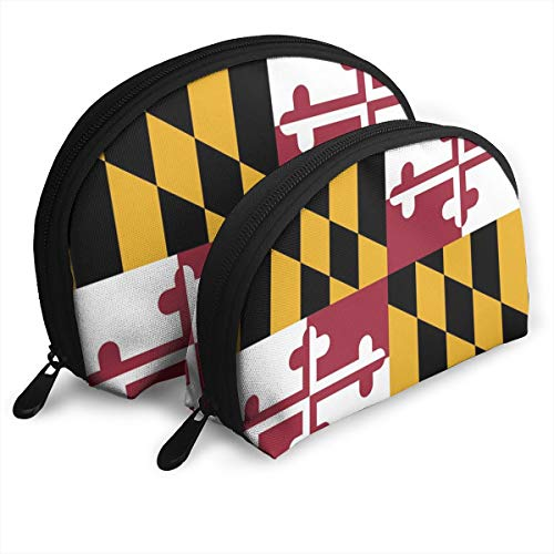 - KHJFDNYF Maryland State Flag Portable Bags Clutch Pouch Coin Purse Cosmetic Travel Storage Bag One-Big and One-Small 2Pcs Stationery Pencil Multifunction Bag Child Wallet Key Case Handbag