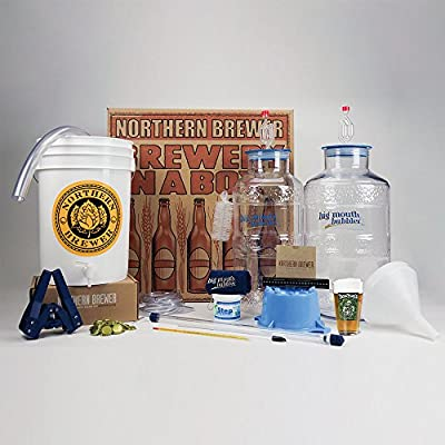 Northern Brewer – Deluxe Beer Brewing Starter Kit featuring Big Mouth Bubbler – Includes Dead Ringer IPA Home Brew Beer Recipe Kit