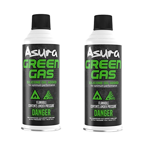 Asura Power Green Gas G-1000, Pack of 2 ()
