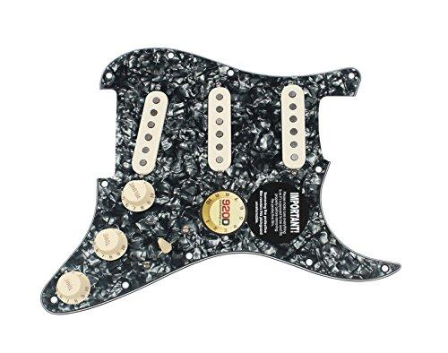 Fender 62 Stratocaster Pickguard - Fender Original '57/'62 Strat Loaded Pickguard Black Pearl / Aged White
