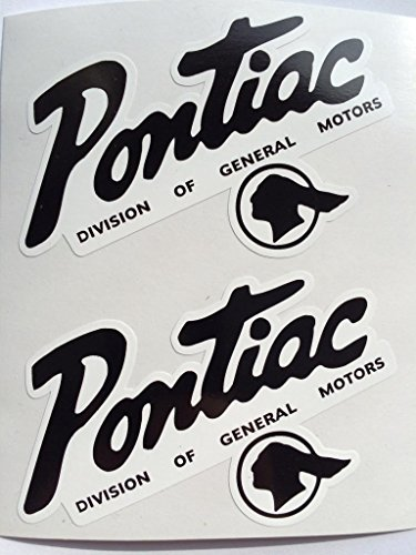 2 Pontiac GM Die Cut Decals