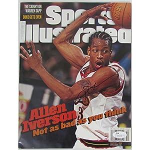 Allen Iverson Signed 3 9 1998 Sports Illustrated NO LABEL JSA N46034