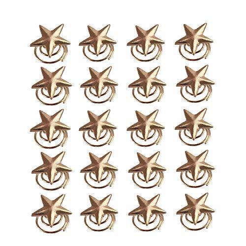 Coobbar 20PCS Twist wedding Small Mini Metal Gold Color Star Hairpins Women Girl Swirl Hair Pins