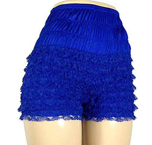 T T Store Women Sexy Lace Shorts Safety Lolita Underpants Frilly Ruffle Knickers Briefs High Waist Pleated - Leopard Lolita