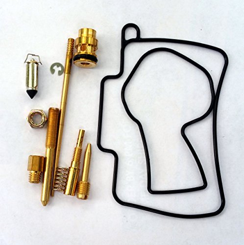 Main Needle Set (Carburetor Rebuild Kit with O-Ring Gasket 430 Main 55 Slow Jet Needle Clip Spring for Mikuni 38mm TMX 38 MX Carb fits Honda CR125 CR125R 04 05 06 07 and Possibly Other Brands and Models with Similar Carburettor Carborator)