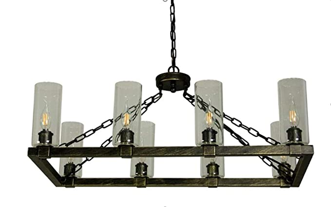 Canyon Home Kitchen Island Chandelier Light w/Glass Lamp