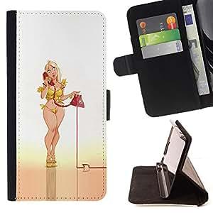 - Queen Pattern FOR Sony Xperia Z1 Compact D5503 /La identificaci????n del cr????dito ranuras para tarjetas tir????n de la caja Cartera de cuero cubie - sexy phone babe pin up leg