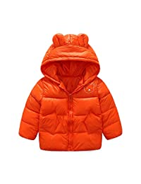Sanke Boys Girls Hooded Down Jackets Kid's Winter Warm Cotton Puffer Jacket