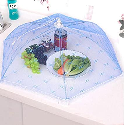 Huertuer - Cubierta redonda plegable de malla para comida para barbacoa, cocina, alimentos
