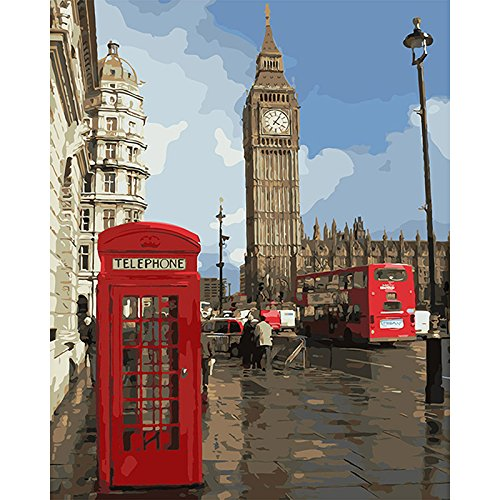 Toopia DIY Pictures by Numbers Impression of London Painting by Numbers on Canvas Pictures-by-Numbers -